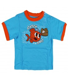 Childrens Place Fish Ringer Graphic Tee