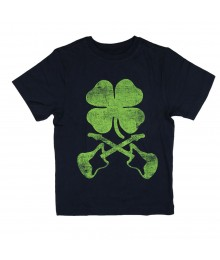 Crazy 8 Navy Shamrock Guitar Tee