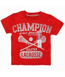 Carters Red Lacrosse Champion Tee