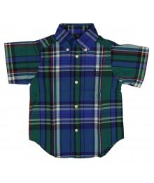 Chaps Navy Checkered Shirt