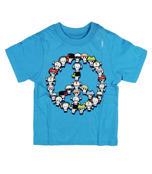 Childrens Place Boys Peace Graphic - Blue Tee