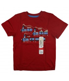 Jumping Beans Red Transportation Tee- Train