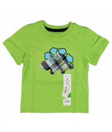 Jumping Beans Green Dinosaur Applique Tee