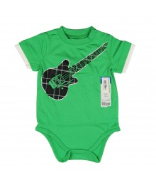 Okie Dokie Green Boys Body Suit Tee - Guitar