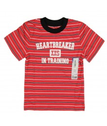 Okie Dokie Red Boys Stripped Tee Heart Breaker
