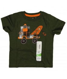 Jumping Beans Green Tee- Towing Truck Baby Boy