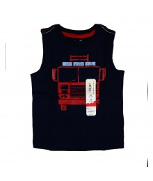 Jumping Beans Navy  Fire Truck Tee Little Boy