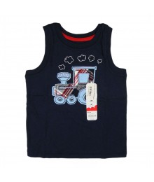 Jumping Beans Navy Sleeveless Tee- Truck Appliq