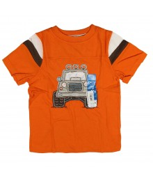 Sonoma Orange  Tee With Tan 4wd Jeep Appliq Little Boy