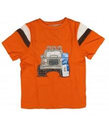 Sonoma Orange  Tee With Tan 4wd Jeep Appliq