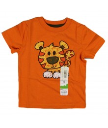 Jumping Beans Orange Pussy Tee Baby Boy