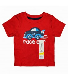 Jumping Beans Red Tee With Race Car Print