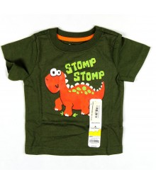 Jumping Beans Green Tee Orange Dino - Stomp