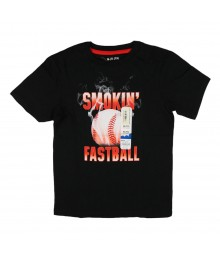 Jumping Beans Black Tee with Smokin Fastball Little Boy