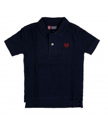 Chaps Solid Navy Pique Polo