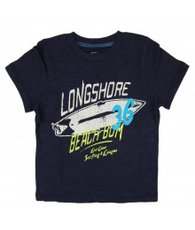 Carters Navy Tee With Longshore Print