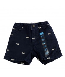 Childrens Place Navy Shorts Wt Bone Fish Emb