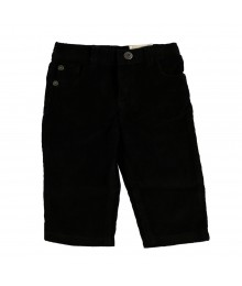 Arizona Black Corduroy Straight Leg Pants