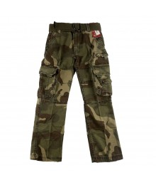 Arizona Camo Boys Belted Cargo Trousers