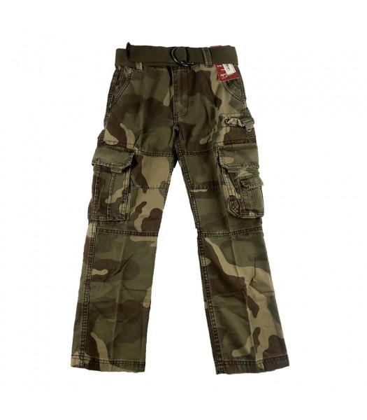 Arizona Camo Boys Belted Cargo Trousers