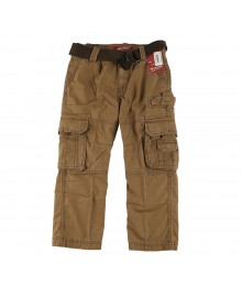 Arizona Brown Boys Belted Cargo Trousers