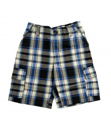Sonoma Navy/Grey Plaid Cargo Shorts