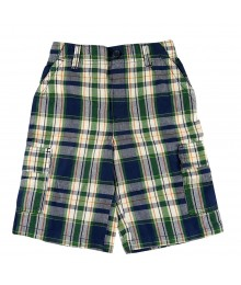 Sonoma Navy/Green Plaid Cargo Shorts