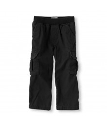 Childrens Place Black Cargo Trousers