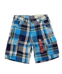 Arizona Blue Plaid Cargo Shorts