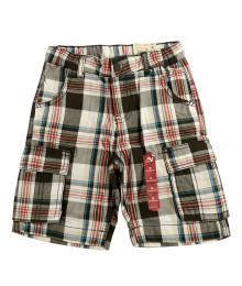 Arizona Black/Greyplaid Cargo Shorts  Little Boy