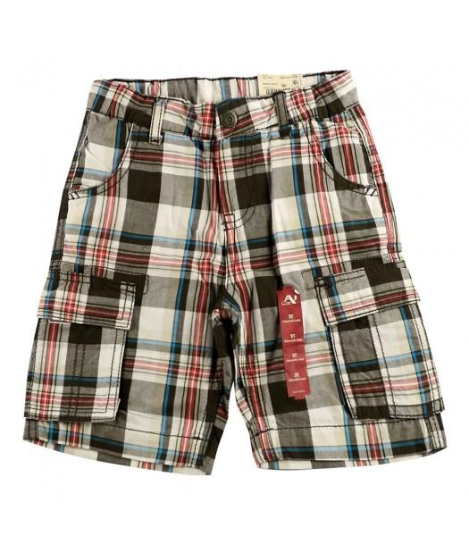 Arizona Black/Greyplaid Cargo Shorts