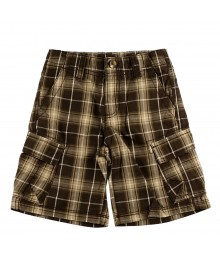 Crazy8 Brown Plaid Bleted Boy Shorts
