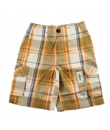 Sonoma Tan/Orange/White Plaid Cargo Shorts
