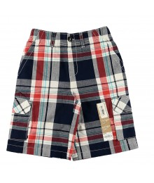 Sonoma Navy/Red/White Plaid Cargo Shorts Little Boy
