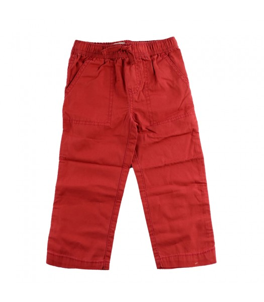 Childrens Place Red Boys Drawstring Trousers
