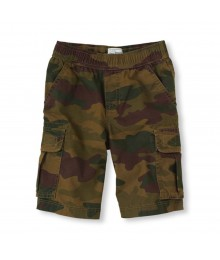 Childrens Place Green Camo Boys Cargo Shorts