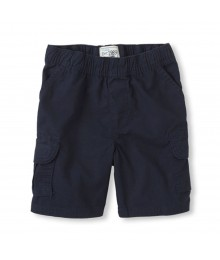 Childrens Place Navy Boys Husky Cargo Shorts