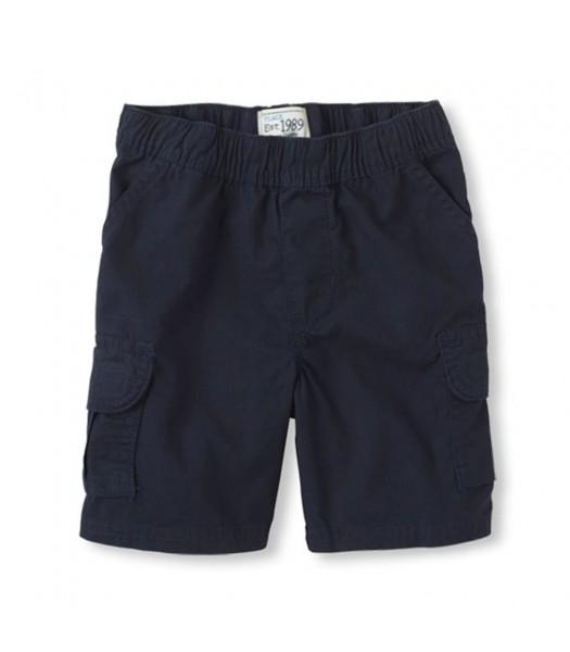 Childrens Place Navy Boys Husky Cargo Shorts
