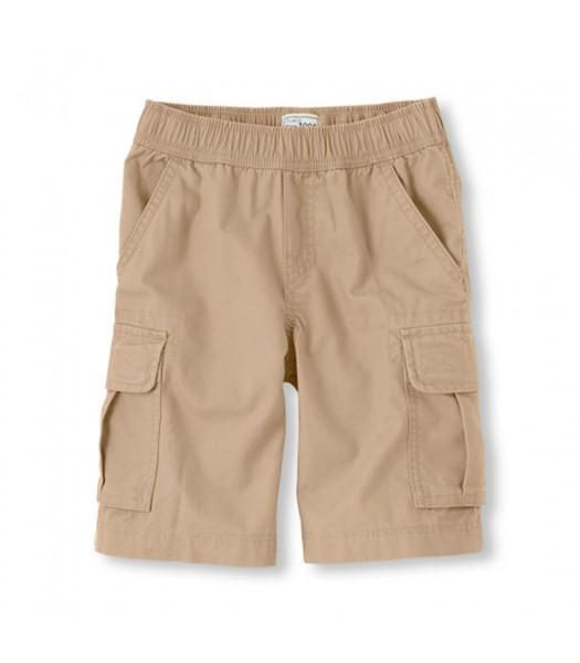 Childrens Place Cream Boys Cargo Shorts