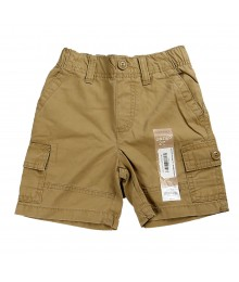 Jumping Beans Clay Brown Canvas Cargo Shorts