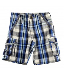 Oshkosh Blue Plaid Cargo Shorts  Little Boy