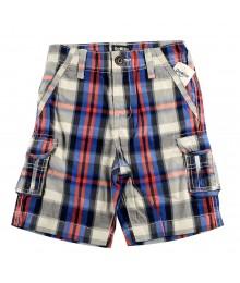 Oshkosh Red/Blue Plaid Cargo Shorts