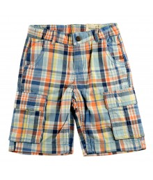 Arizona Blue/Yelow/Orange Plaid Cargo Shorts