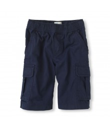 Childrens Place Navy Blue Boys Cargo Shorts