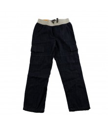 Cherokee Dark Wash Boys Cargo Jeans Wt Banded Waist Bottoms