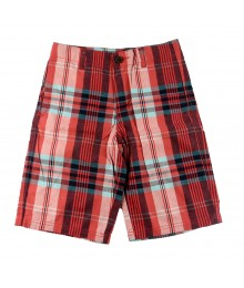 Crazy 8 Multi Red/Turq Boys Flat Front Shorts
