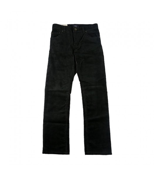 Gap Black/Grey Corduroy Slim Straight Fit