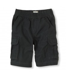 Childrens Place Black Washed Cargo Shorts