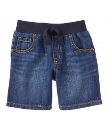 Gymboree Blue Pull-On Denim Short