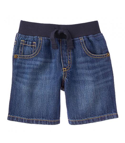 Gymboree Blue Pull-On Denim Short Little Boy